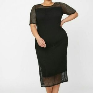 Catherine's Curvy Collection Netted/Mesh Dress